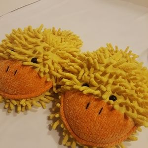 Child Aroma Home Fuzzy Yellow Orange duck slippers